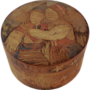 Antique Dutch Hand Painted Wood Box