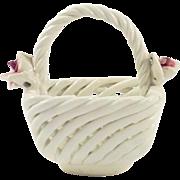 Vintage Capodimonte Style Hard Paste Basket
