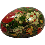 20th Century Kashmiri Papier-Mache' Hand Painted Egg
