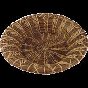 c. 1900s Fancy Louisianan Pine Needle Basket