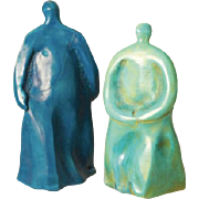 Artist: Elaine Reed (Smithsonian List of Renowned 20th C. Artists) Porcelain and Oil Figures