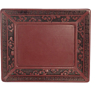 19th Century Chinese Cinnabar Lacquer Tray