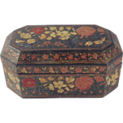 19th Century Kashmir Papier (Paper) Mache' Box