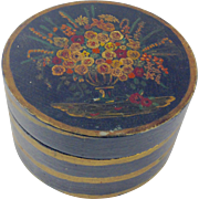 Vintage Hand Turned-Hand Painted Round Box