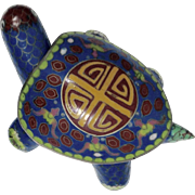 Early 20th Century Chinese Cloisonné Turtle Box