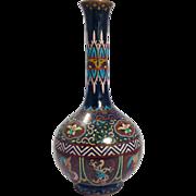 Meiji Period (1868-1912) Japanese Cloisonné Vase-Tall