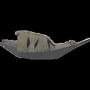 VERY RARE 19th Century Japanese, Early Meiji Period (1868-1912) Handmade Bronze Boat Censor