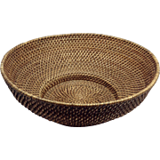 Early 20th Century American Basket, Carolina Sweetgrass