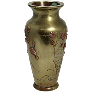 19th Century Japanese Mixed Metal Vase, Meiji Era