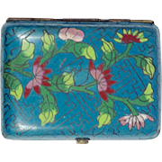 Chinese Export Cloisonné Cigarette Case