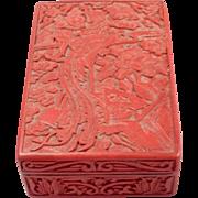 Antique Chinese Cinnabar Box