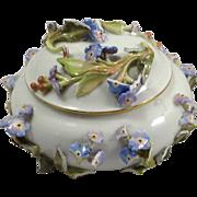 Antique Meissen Covered Trinket Dish
