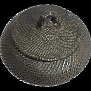 Antique Asian Bronze Vessel with Lid