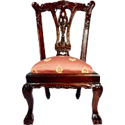 Beautiful Dollery Chippendale Handmade Doll Chair