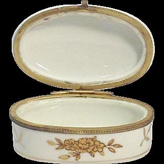 Porcelain Hand Painted Trinket Box