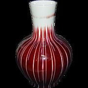 Large Red Glazed Vase-2