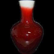 Large Vase - Red Glazed Chinese