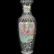 Large Hand-Painted Chinese Palace Vase