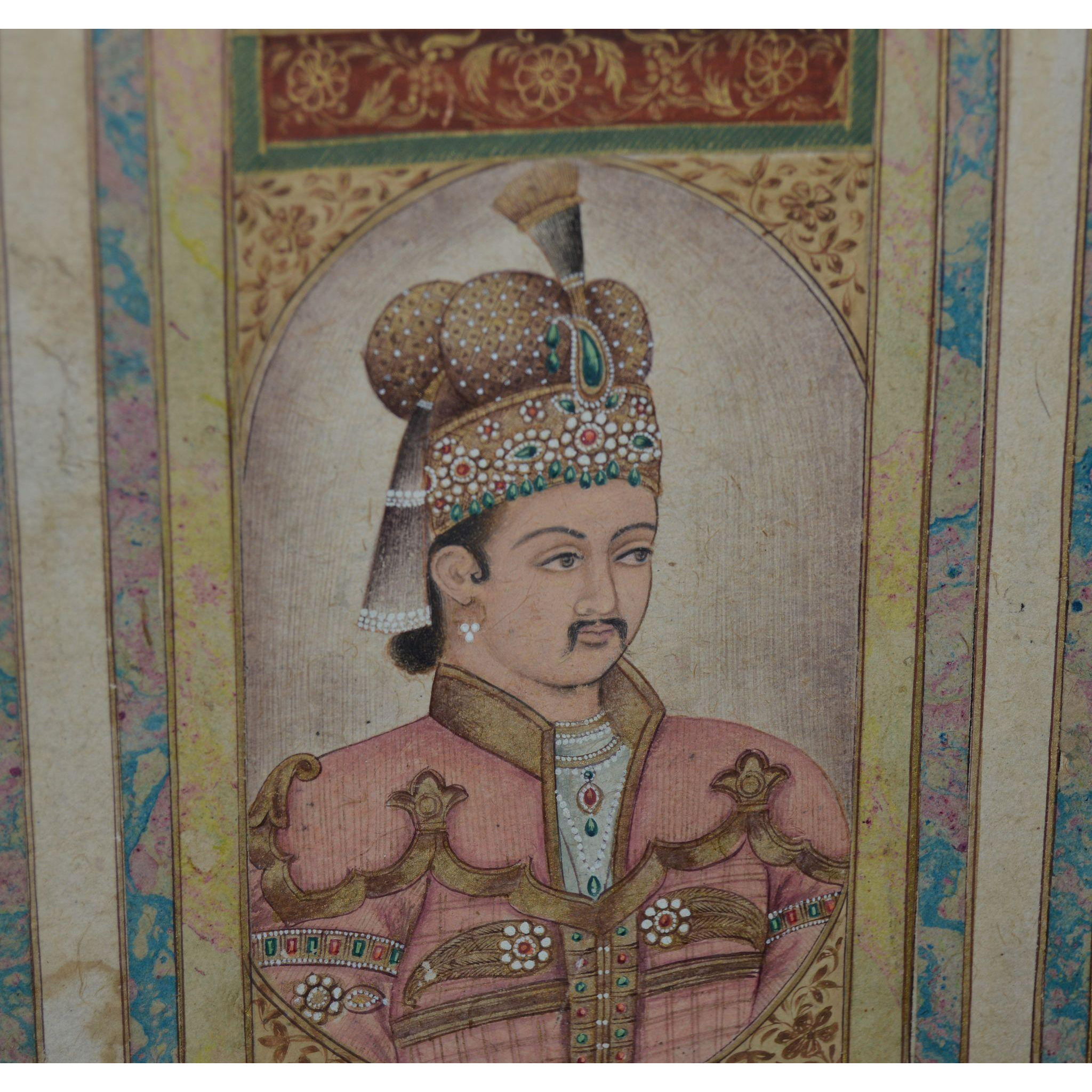 Hand Painted portrait Mughal Emperor Jahangir from hollin ...