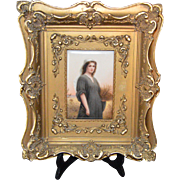 """KPM Style Porcelain Plaque of """"Ruth""""-Painted and Signed by Wagner and stamped """"HR""""107"""