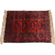 Afghan Bashir Hand Knotted Rug made in Pakistan - Red Tag Sale Item