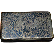 French Silver Snuff Box with Engraved Phoenix- Paris Circa 1819-1838