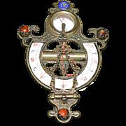 Folding Equinoctial String Gnomon Compass Sundial- Chinese