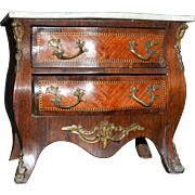 Miniature Bombe Chest with Marble Top