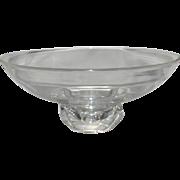 An Elegant Center Steuben Bowl on Pedestal