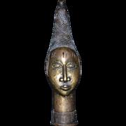 Bronze Bust African Tribal Leader