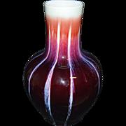 Large Red Glazed Vase