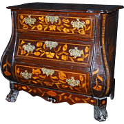 Miniature Child's Chest with Marquetry Inlay