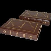 """Eisenhower"" by Stephen E. Ambrose Two Volume Leather Bound Set"