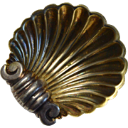 English Silver Plate Shell Salt Cellar