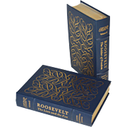 """Roosevelt"" by James McGregor Burns, Two- Volume Set Leather Bound Books"