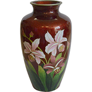 Japanese Ginbari Shippo Vase
