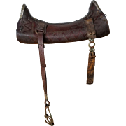 "Vintage ""Serigote Chapeado"", Brazilian Saddle with Silver Plates and Gold Details, Bridle and Bit"