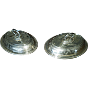 Pair Martin Hall & Co. Oval Covered Serving Trays