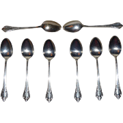 Exquisite Demitasse Spoons Set of 8