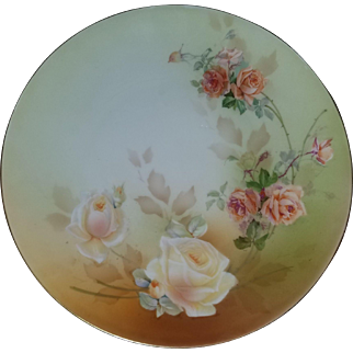 Beautiful Large Hand Painted R. S. Germany Plate