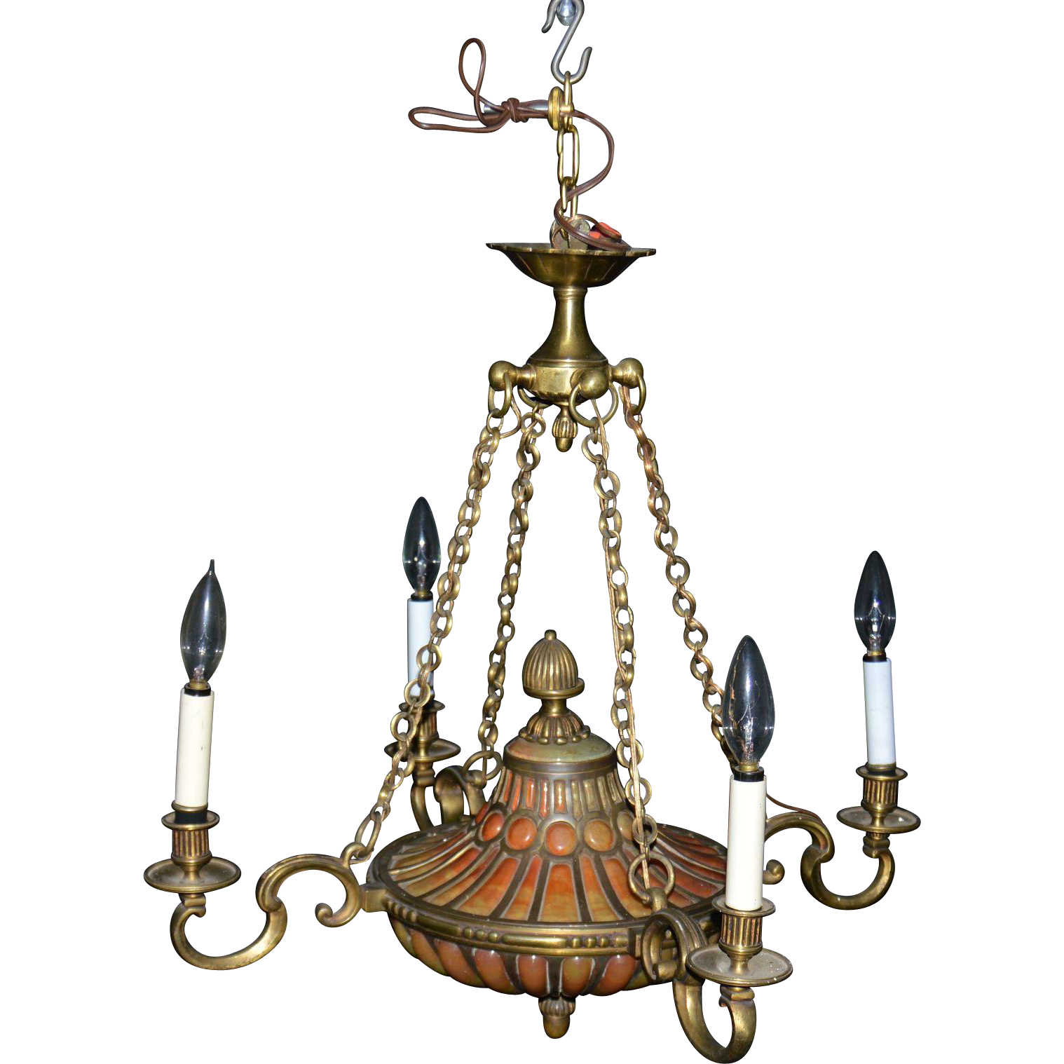 Daum nancy chandelier circa 1920s from hollin gate on ruby lane daum nancy chandelier circa 1920s arubaitofo Gallery