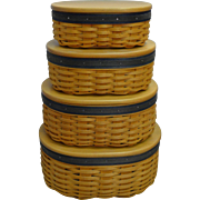 Longaberger Handwoven Harmony Basket set with Protectors; Collectors Club!