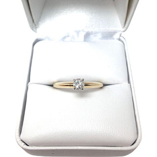 .25 carat Solitaire Diamond Engagement Ring in 14K Yellow Gold