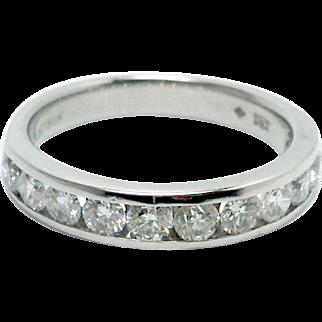 Platinum Channel Set 1 carat Diamond Wedding/Anniversary Band