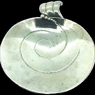 Tiffany & Co. Vintage Handled Bon Bon Bowl Sterling Silver 1951