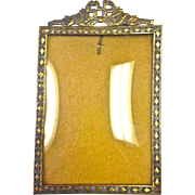 Vintage German Picture Frame with Convex Glass