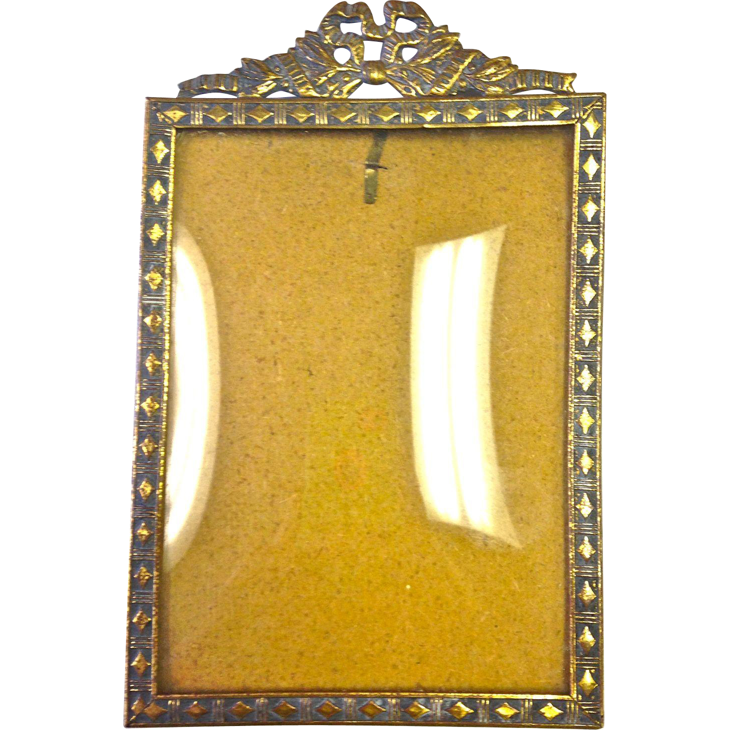 vintage german picture frame with convex glass from