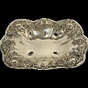 Vintage Sterling Silver Rectangle Bowl