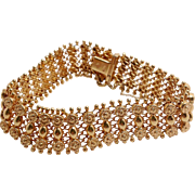 18K Persian Yellow Gold Bracelet with Safety Chain and Clasp