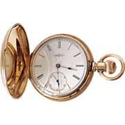 Vintage Round Elgin Pocket watch with 14K Yellow Gold, Roman Numerals, and matching fob!